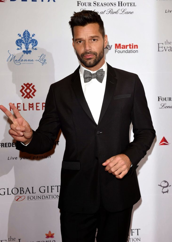 LONDON, ENGLAND - NOVEMBER 17:  Ricky Martin attends the 5th Global Gift Gala hosted by honorary chair Eva Longoria at the Four Seasons Hotel on November 17, 2014 in London, England.  (Photo by Karwai Tang/WireImage)