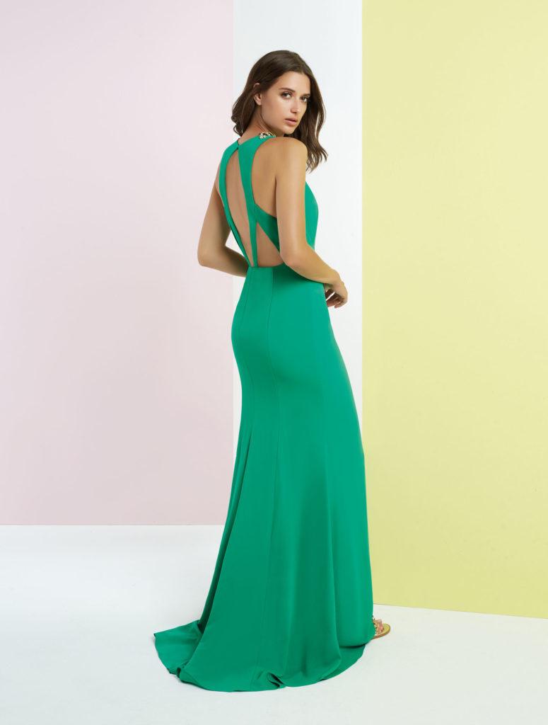 abito verde cerimonia Matilde Cano