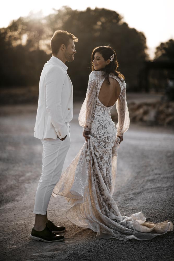 Sposa abito maniche lunghe