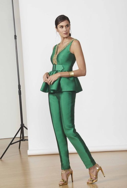 completo cerimonia Verde smeraldo